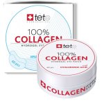 TETE Патчи гидроколлагеновые для глаз с гиалуроновой кислотой, 100% Collagen Hydrogel Eye Patch 60шт